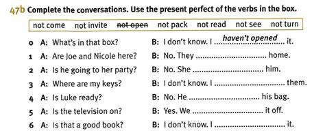como responder preguntas en presente perfecto en ingles just a review present perfect