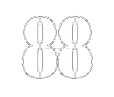 printable army number stencils free military 88 number stencil freenumberstencils com