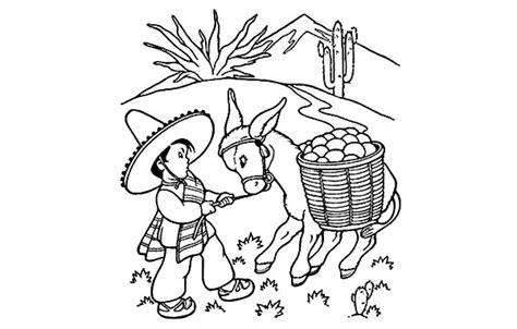 mexican boy coloring page mexican boy coloring page sketch coloring page