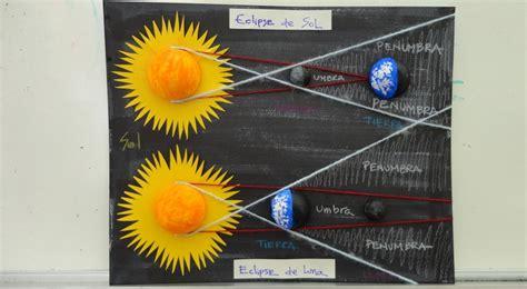 como hacer una maqueta del ecplise solar y lunar cifras y letras los eclipses y los movimientos de la tierra