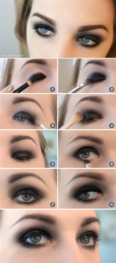 eyeshadow tutorial dark easy black smokey eye tutorial wonder forest