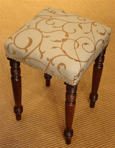 Vintage Dressing Table Stool by Antique Mahogany Stool Georgian Dressing Table Stool