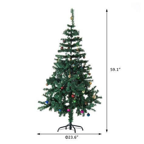 homcom christmas tree control homcom 4 9ft green tree artificial holidays with decoration ornament aosom ca