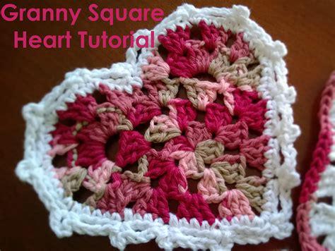 pattern for heart granny square austere twist granny square heart tutorial
