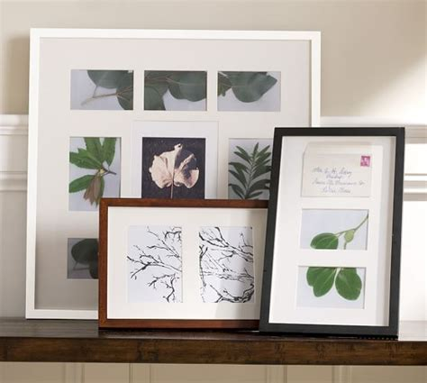 Pottery Barn Photo Frames wood gallery opening frames pottery barn