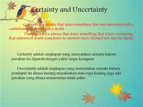 the certainty of and uncertainty of expressing certainty uncertainty