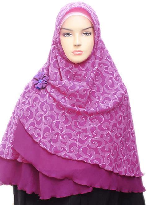 Jilbab Instan Laila Jilbab Laila Pita jual almasah laila ungu magenta 002 harga dan review