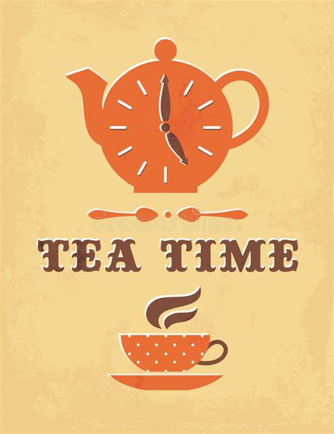 tea time stock vector illustration of graphic 35280036