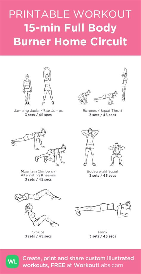 best 25 15 min workout ideas on 15 minute