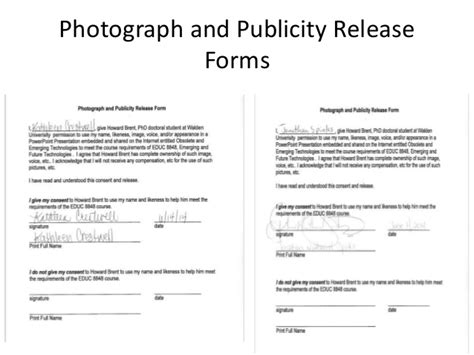 publicity release form social media release form template