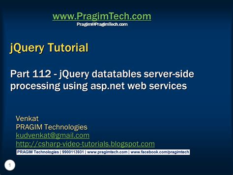 tutorial jquery website sql server net and c video tutorial jquery datatables