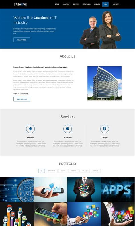 html5 business template 80 best free responsive html5 templates techclient