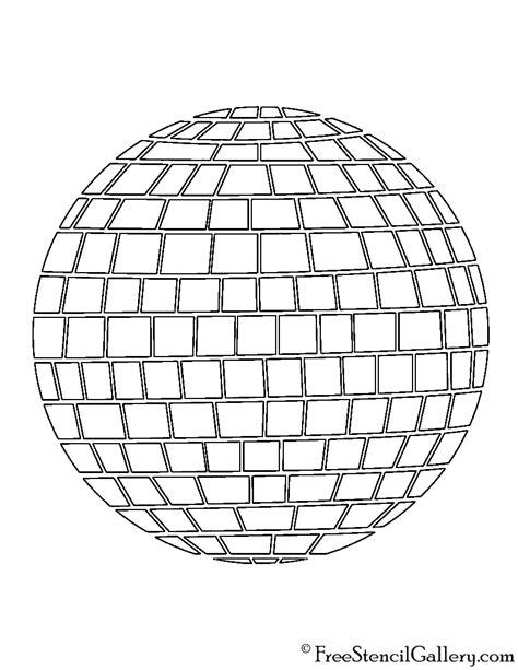 disco ball stencil free stencil gallery