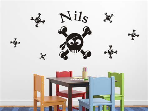 Farbe Im Wohnzimmer 2806 by Wandtattoo Set Witzige Skulls Mit Wunschname Wandtattoo De