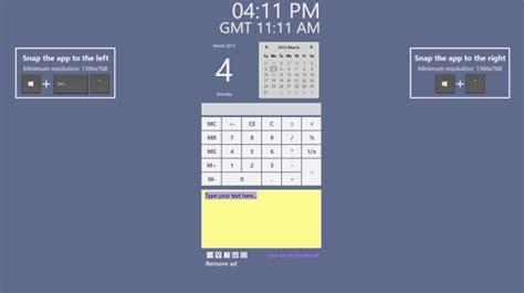Calendar Desktop Widget Windows 8 Snapgadgets Is A Great Desktop Gadgets Alternative For