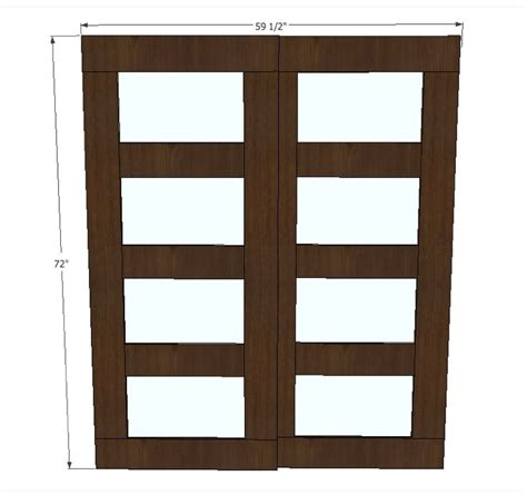 Closet Door Dimensions White Build A Bypass Closet Doors Free And Easy Diy Project And Furniture Plans