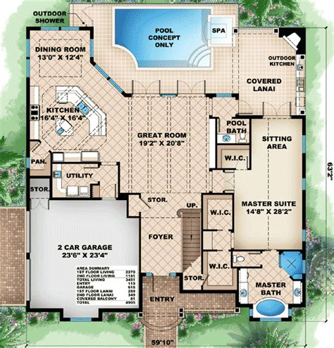 what is a lanai in a house covered lanai with fireplace 66288we 1st floor master suite butler walk in pantry cad