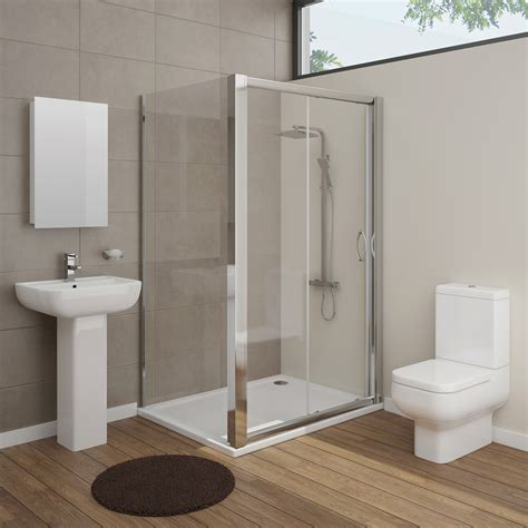 on suite bathrooms pro en suite bathroom package with 1200mm sliding