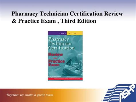 pharmacy technician certification practice question workbook 1 000 comprehensive practice questions 2018 edition books ppt ashp model curriculum third edition ashp