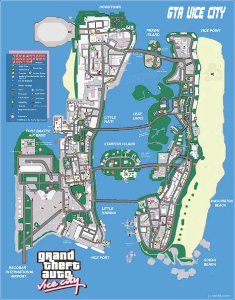 grand map with cities vice city map grand theft auto city maps