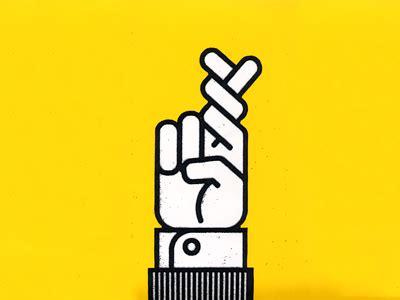 Fingers Crossed Meme - dribbble fingers crossed by dan gneiding