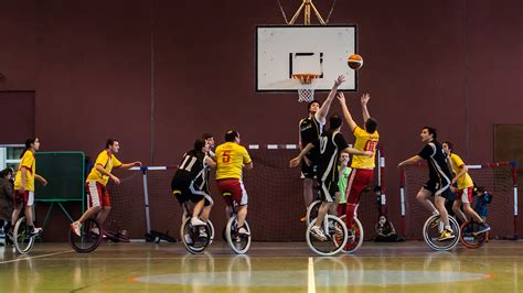 an sport the unicycle basketball the circular
