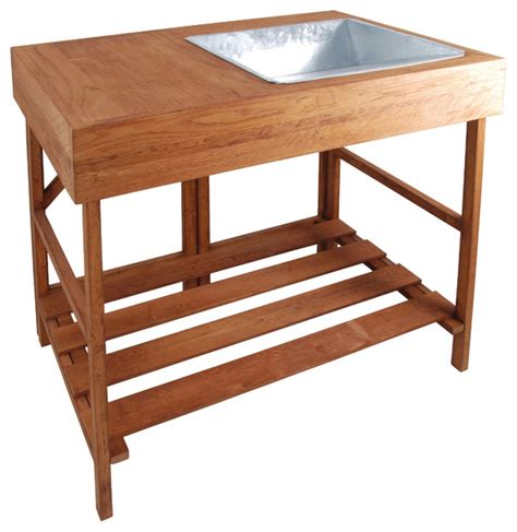 potting tables and benches hardwood potting table traditional potting benches