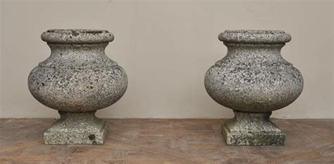 Outdoor Vases by Antique Pair Of Garden Vases In Granite Planters Vases