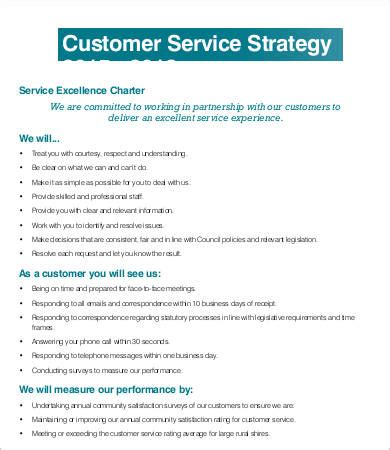 customer care charter template service strategy template 6 free word pdf documents