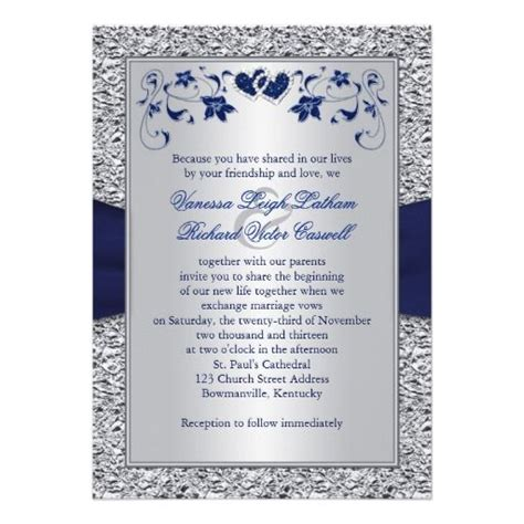 navy white and silver wedding invitations 25 best ideas about navy silver wedding on
