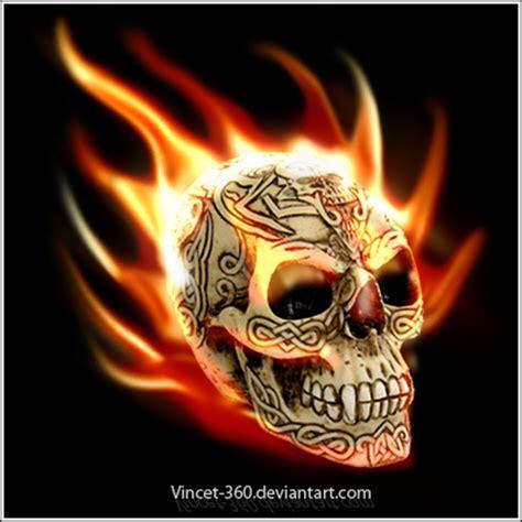 imagenes de una calavera con fuego fotos de calaveras con fuego taringa