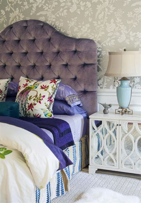Purple Headboard by 80 Inspirational Purple Bedroom Designs Ideas Hative