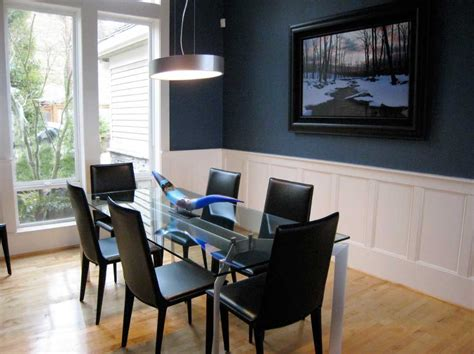 navy blue dining room combine with white paint ideas home interior exterior