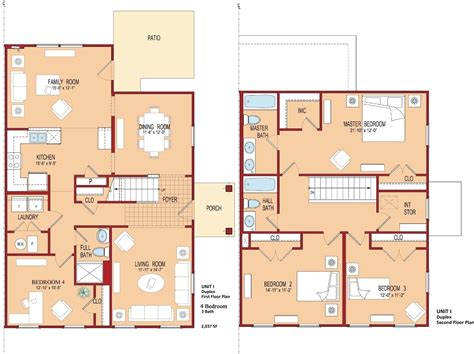 four bedroom floor plans george washington village e1 e8 the villages at belvoir