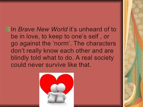 love theme in brave new world brave new world powerpoint 2