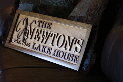 Cottage Name Signs by Personalized Lake House Sign Wood Plaque From Ssvwoodworks On