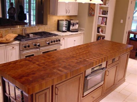 Wood Countertops Pros And Cons by Butcher Block Countertops Pros Cons Island Countertop