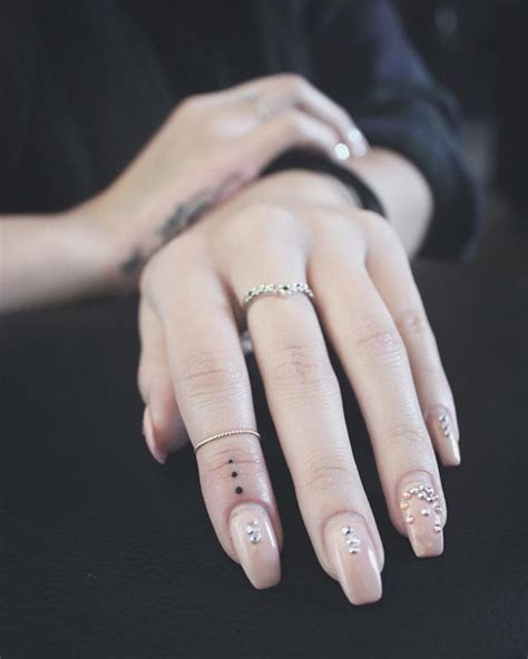 dot tattoo on hand 20 best three dots on finger images on
