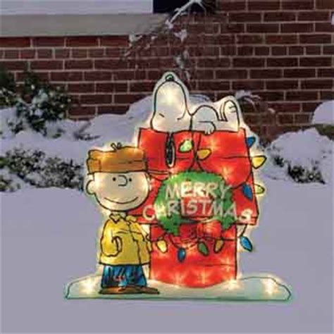 christmas decor 24 quot peanuts charlie brown snoopy gel