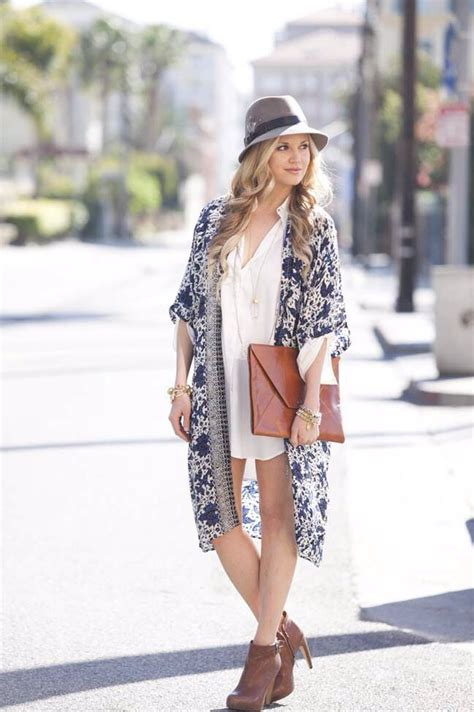 cute ways  wear  kimono   fashions fashion