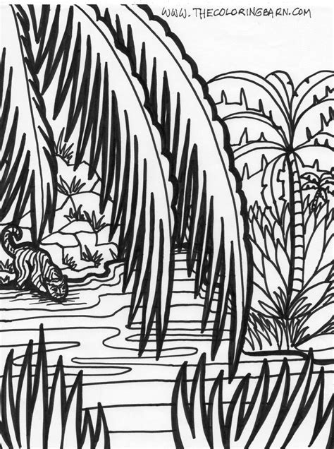 jungle tree coloring page jungle scene coloring pages pages sheets and