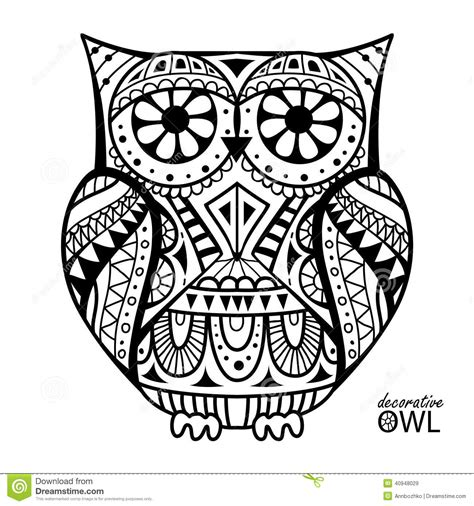 owl mandala coloring pages for adults decorative owl stock photos images pictures 2 484