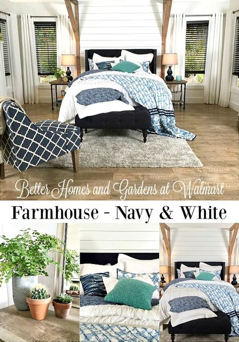 better homes and gardens bedroom ideas farmhouse bedroom navy white refresh restyle