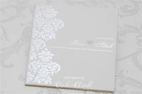 Wedding Invitation Card Cover by Cover Wedding Invitations Sydney Designed By Ooh Aah