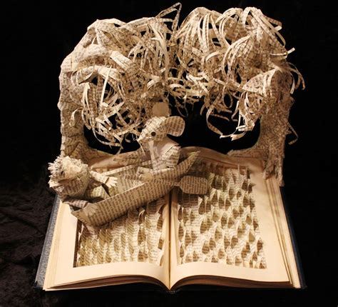 How To Make A Sculpture Out Of Paper Mache - artist gives books a second by sculptures