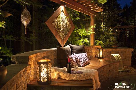 pergola avec banc banc de jardin avec pergola et jardin d eau