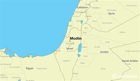 modiin israel modiin central district map worldatlascom