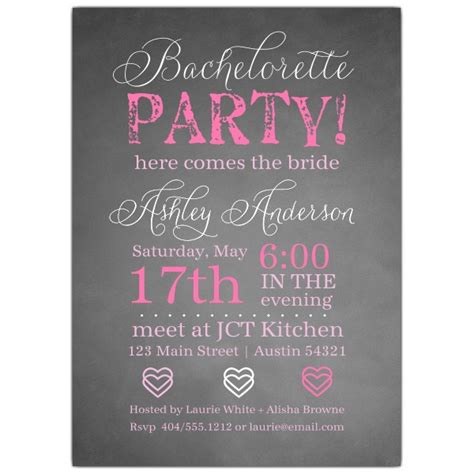 bridal shower and bachelorette same day invitations wording chalkie bachelorette invitations paperstyle
