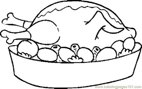 cooked turkey coloring page free cooked turkey coloring pages