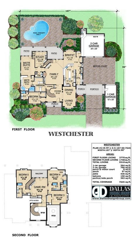 home design group quot westchester quot house plan from dallas design group check